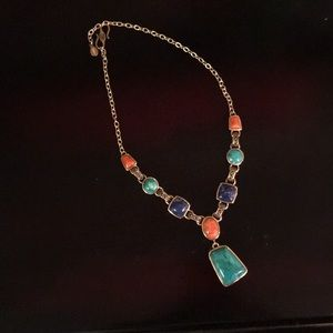 Barse Turquoise, Coral, and Lapiz Necklace